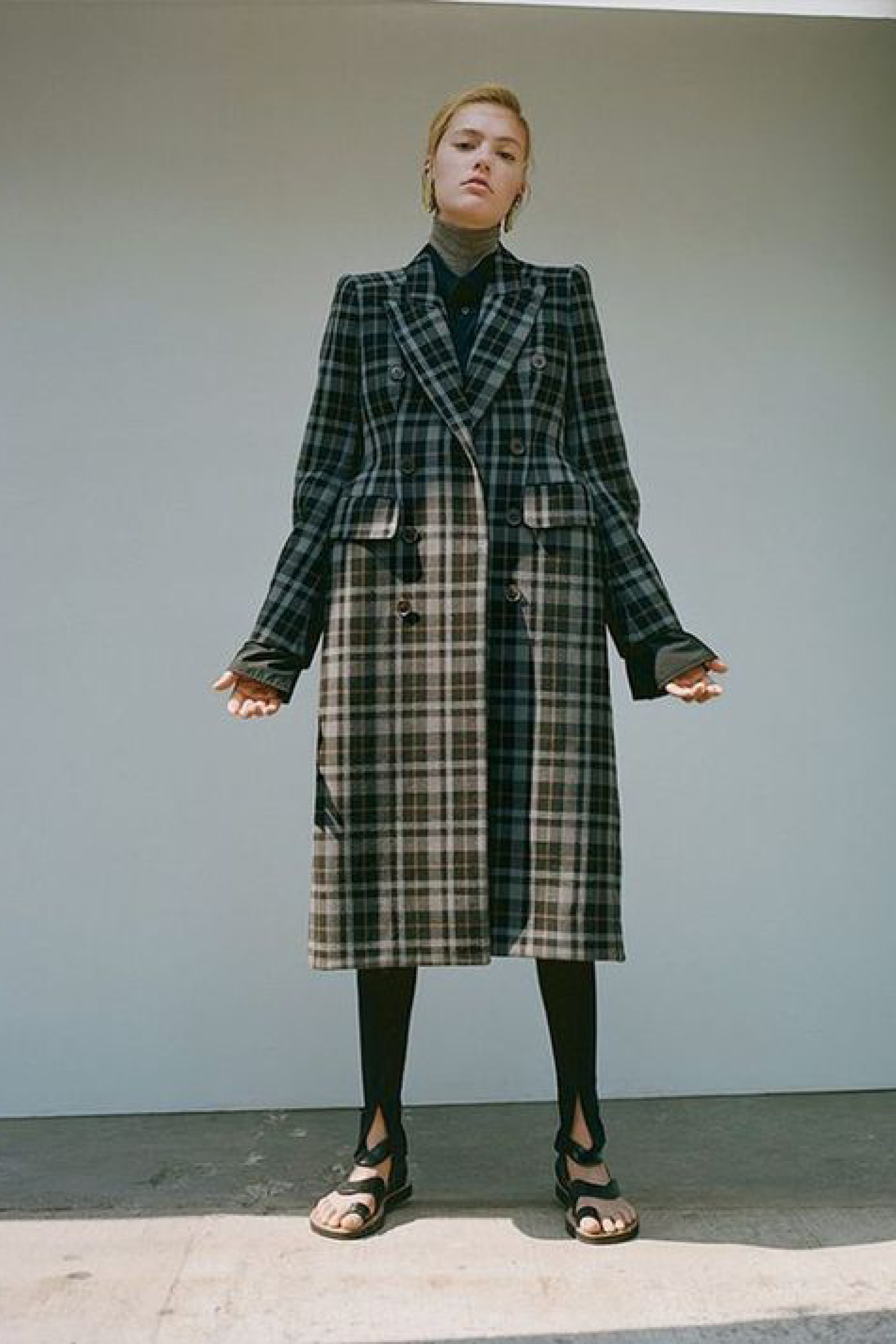 Balenciaga Coat. Photograph by Laurence Ellis. Styled by Alex Harrington