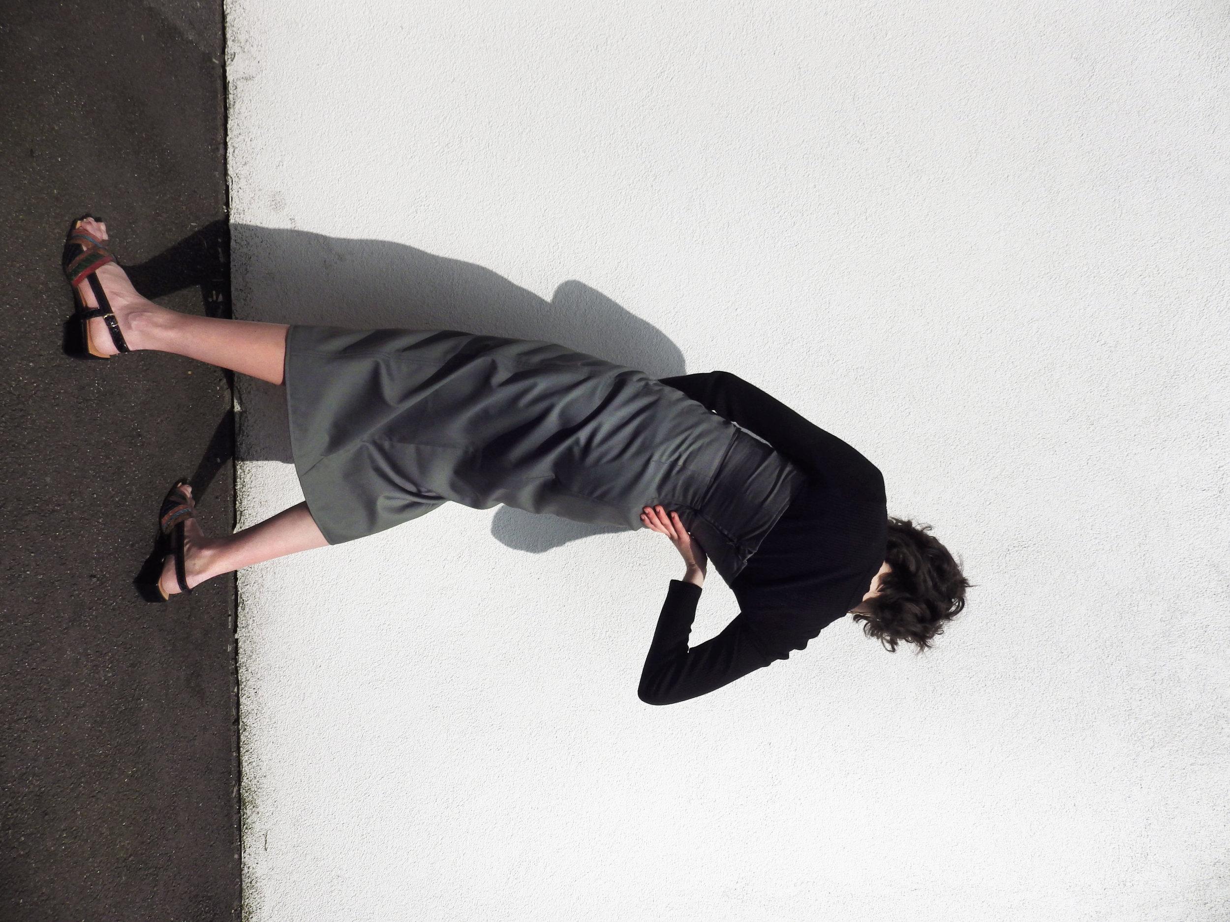 Melissa Wears:  Definitive Top Khaki by  C/MEO Collective   Definitive Skirt Khaki by  C/MEO Collective