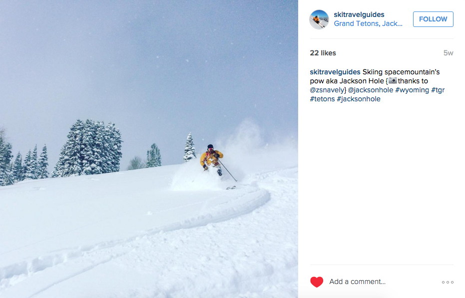 Ski Travel Guides Instagram Feed, February 2016