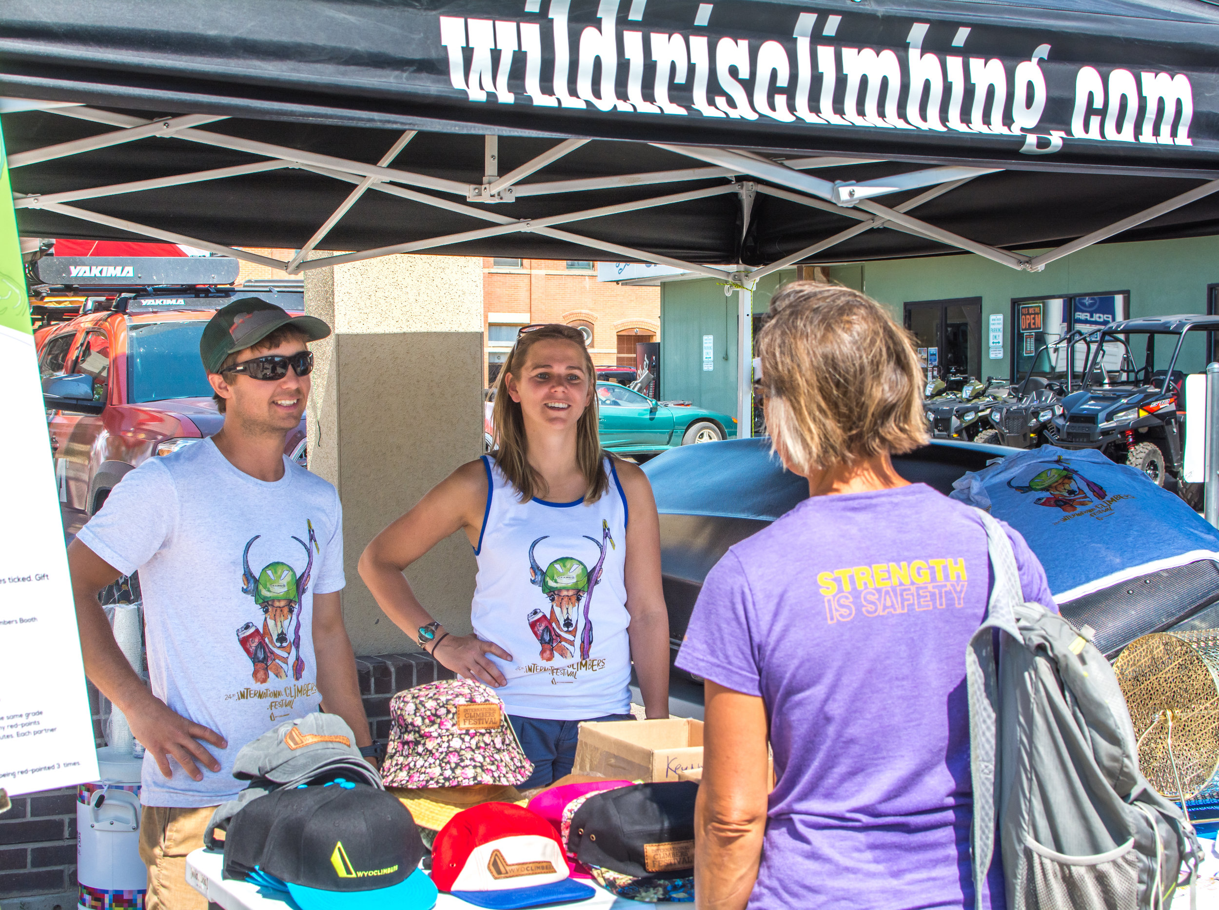 Registration booth at Wild Iris Mountain Sports