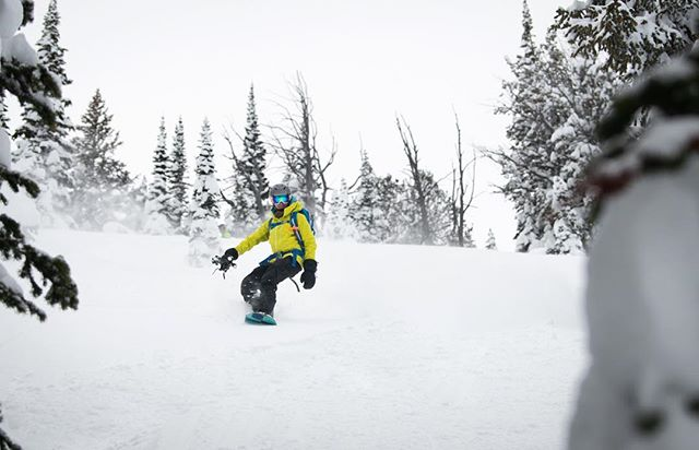 I spent the second day of the @arcteryx Backcountry Academy with a crew of stoked lady splitboarders - yes, they gave me a hard time for being the token male skier! @jennifer.cheryl is excited that the snow here is deeper than in Colorado!