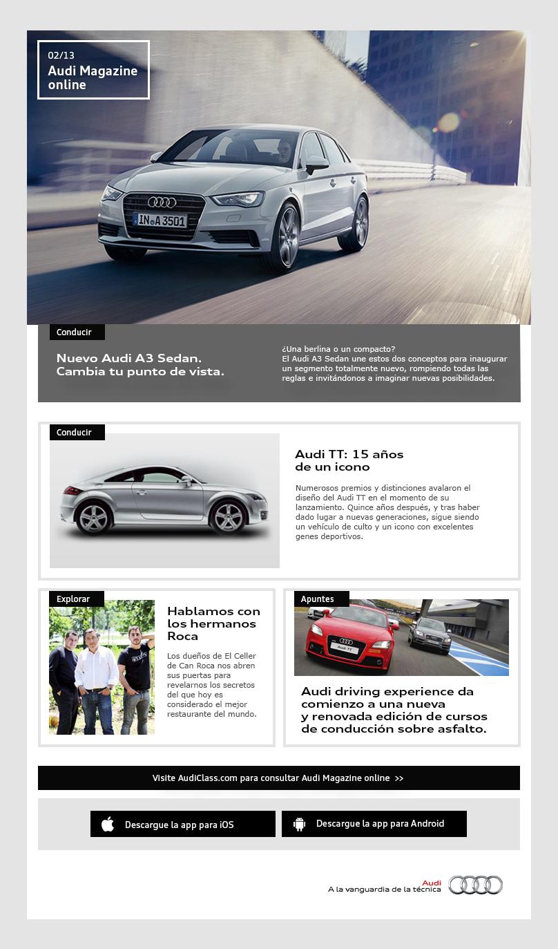Audi magazine e-mail