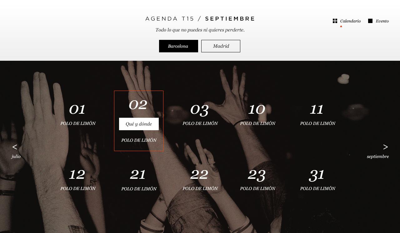 Torres 15 Calendar
