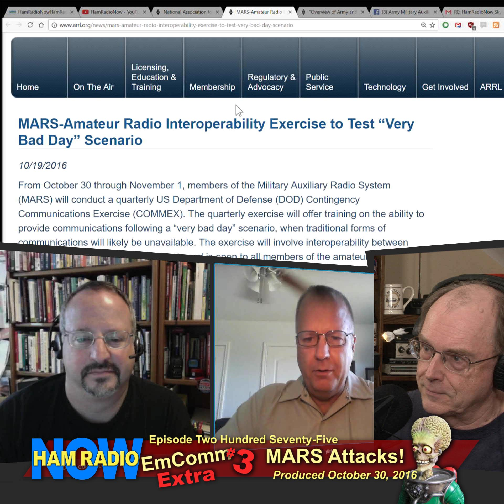 HRN 275: EmComm Extra #3 - MARS ATTACKS! (Interop test, on HamRadioNow)