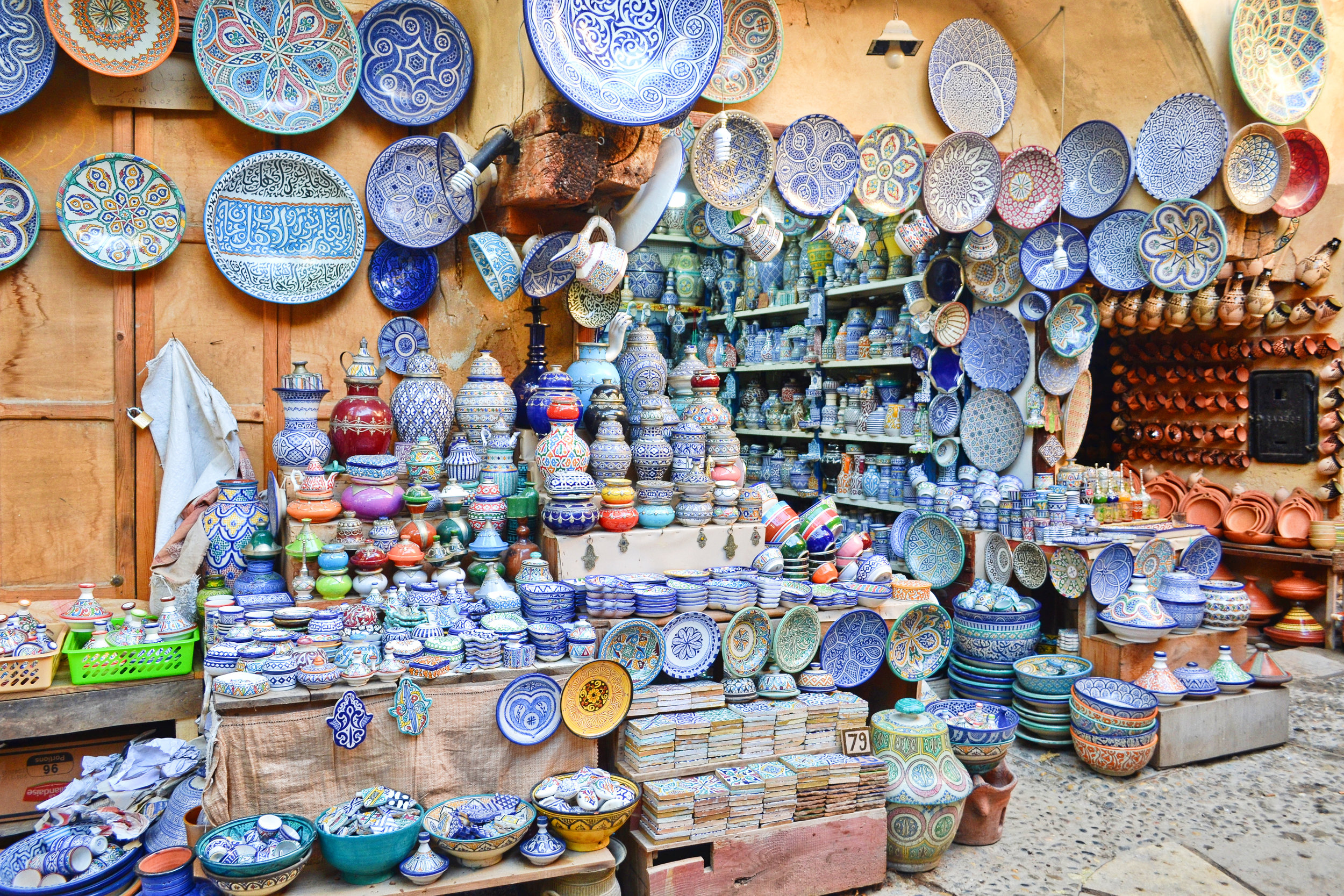 pottery shop in the medina