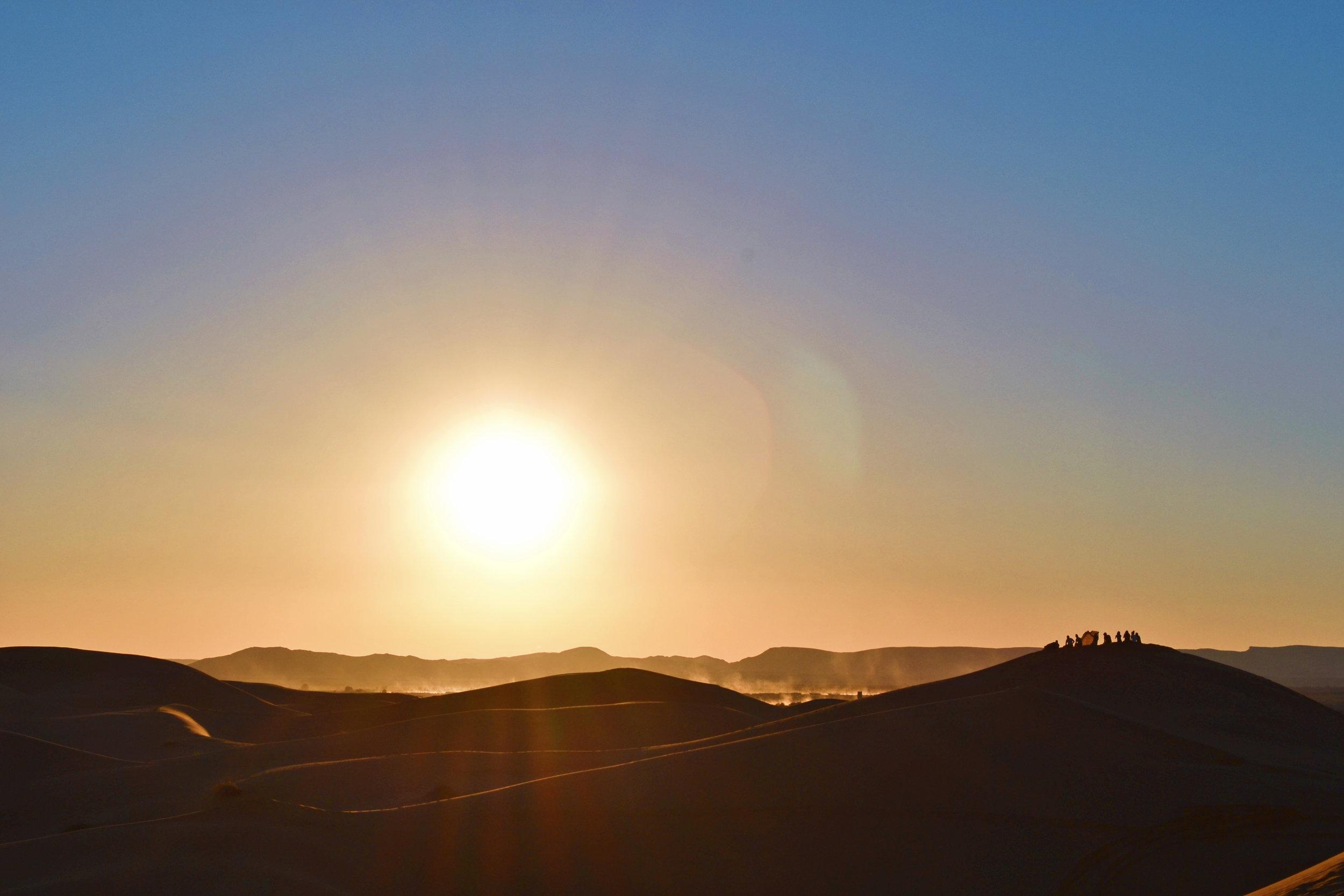 sunset at the sahara