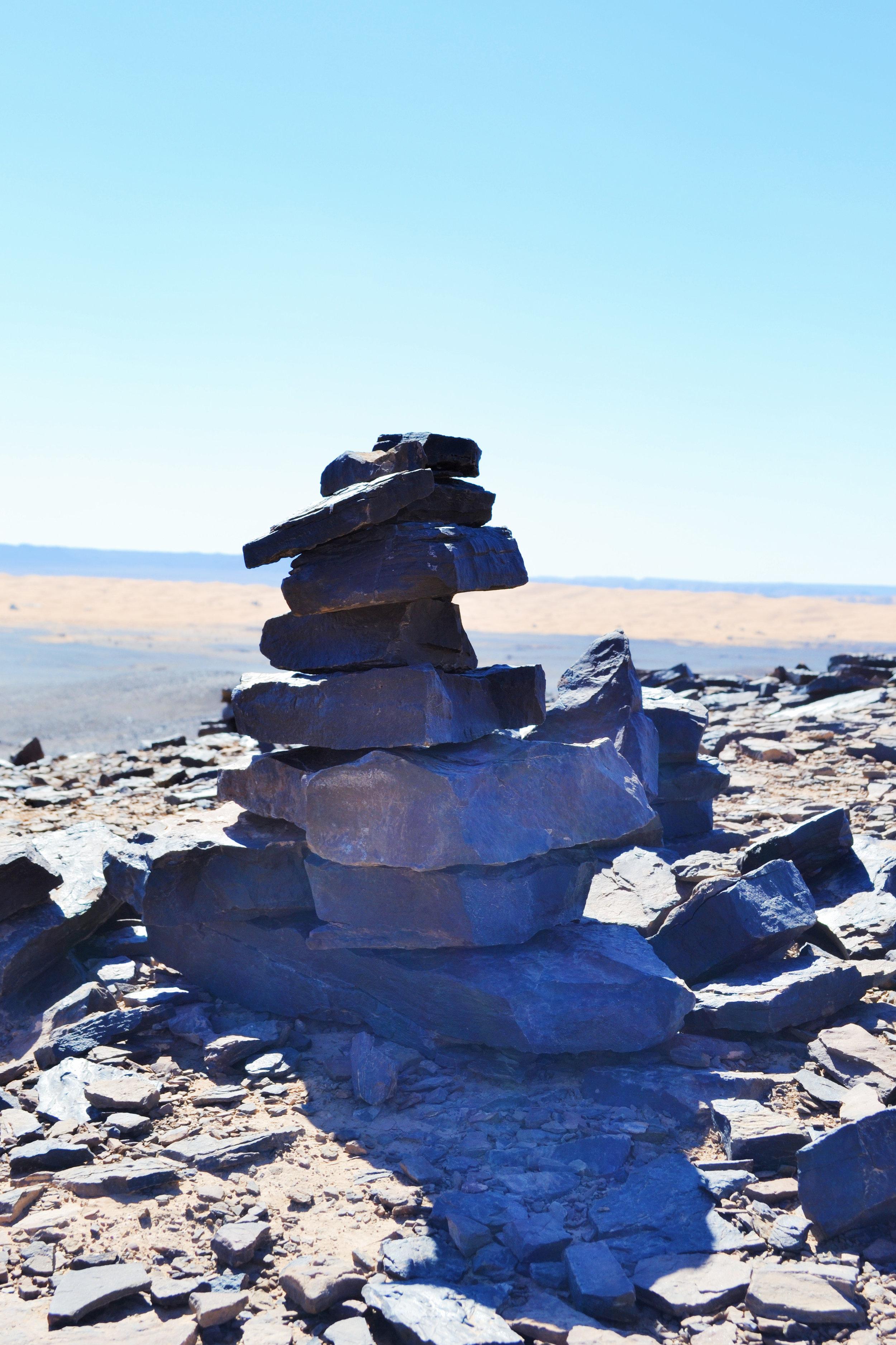 rock structures in desert hills