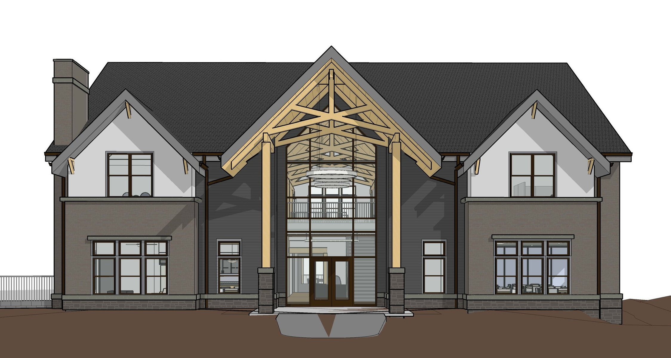Rendering of the new Waterford Crossing Clubhouse exterior