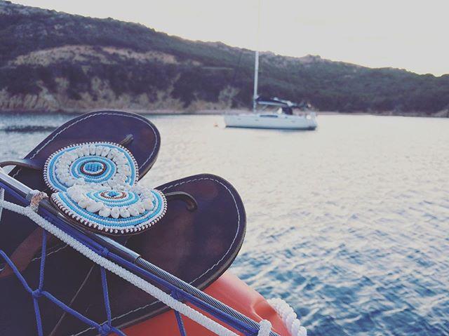 Sardinia, Italy is the perfect place for summer and @wazishoes 😎 🌊 ☀️ #wazishoes #wazi #sandals #flipflops #summer #sunshine #italia #italy #sardinia #sardiniaitaly #ocean #boatriding #ethicallymade #fashion #beading #seashells #handmade #goodcause #blue #blue #turquoise #blueandwhite #beautiful #ecocloset #sandpiper #leather #educationdonation #grettafoundation #handmadeisbetter #tanzania