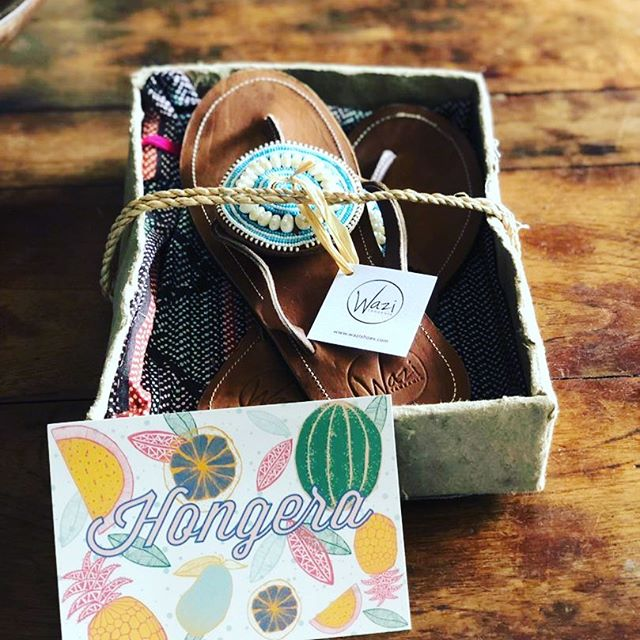 Hongera means Congratulations in Swahili and these beautiful #wazishoes are headed out as an anniversary present to a loved one!! Great gift choice George! For all you out there looking for a heart felt gift, know with your purchase of Wazi Shoes, you are getting a #qualityproduct you are supporting #fairwages you are honoring #handmade and you are #donating to our #nurse #scholarshipsto increase our number of nurses in #eastafrica. Oh yeah our packaging is plastic free with fabric bags and handmade recycled cardboard! sign up for our newsletter and get a discount your first pair! www.wazishoes.com #changingtheworld #morenurses #togetherwestand #giftideas #anniversarygift #weddinggifts #birthdaygifts #honeymoon #whattowear #santabarbarabusiness #tanzania #plasticfree #plasticfreepackaging #recycledesign #reused #slowfashion #ecocloset #consciousconsumption #nurseschool #nurseschangelives #pursepower