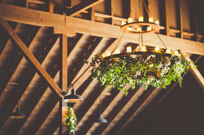 Floral chandeliers at Greengate