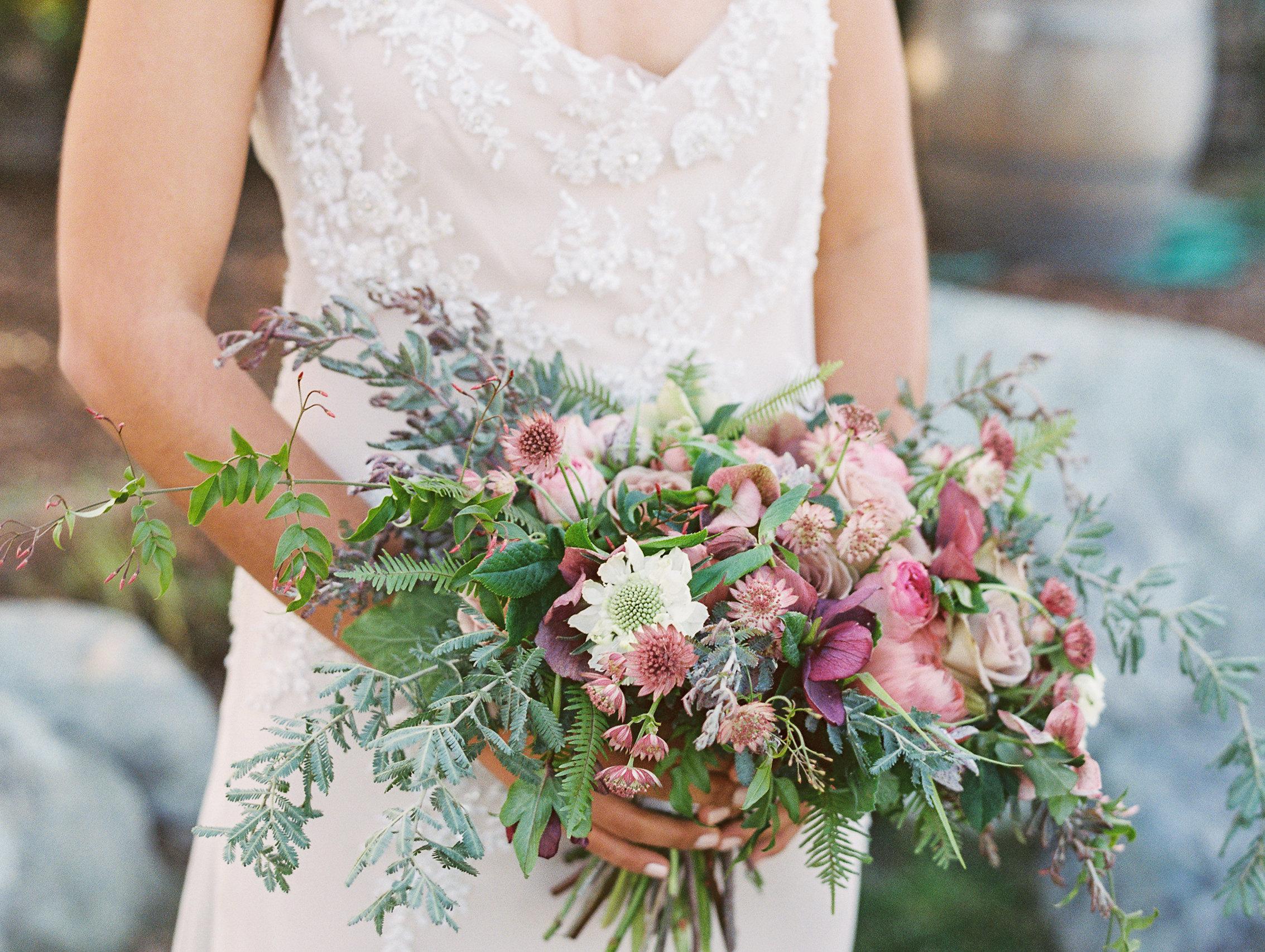 Bridal Bouquet of mauve colors