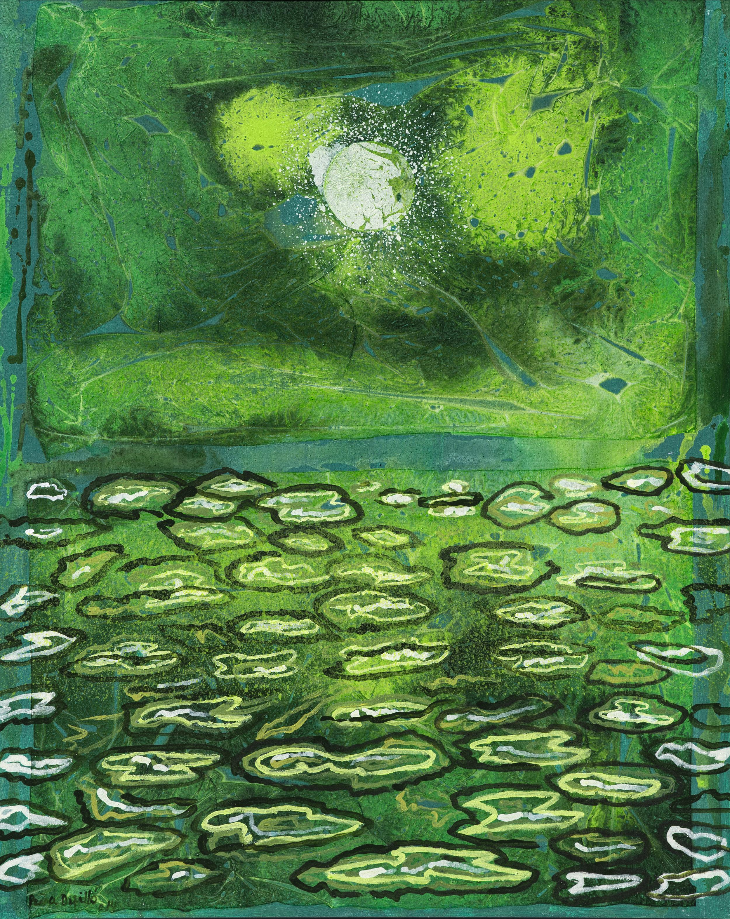 2014. Verde Luna. 50 x 40 plg.