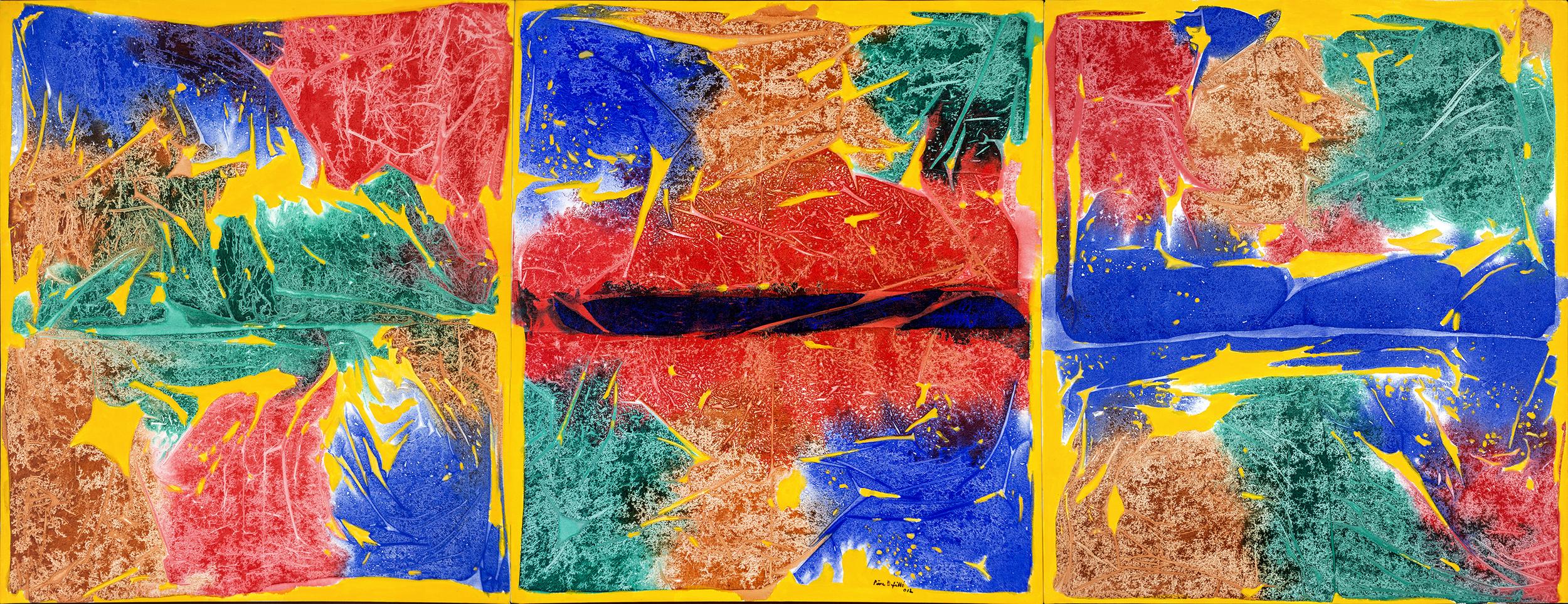 """2012. Naturaleza Encendida.Acrílico sobre tela.56x150"""""""