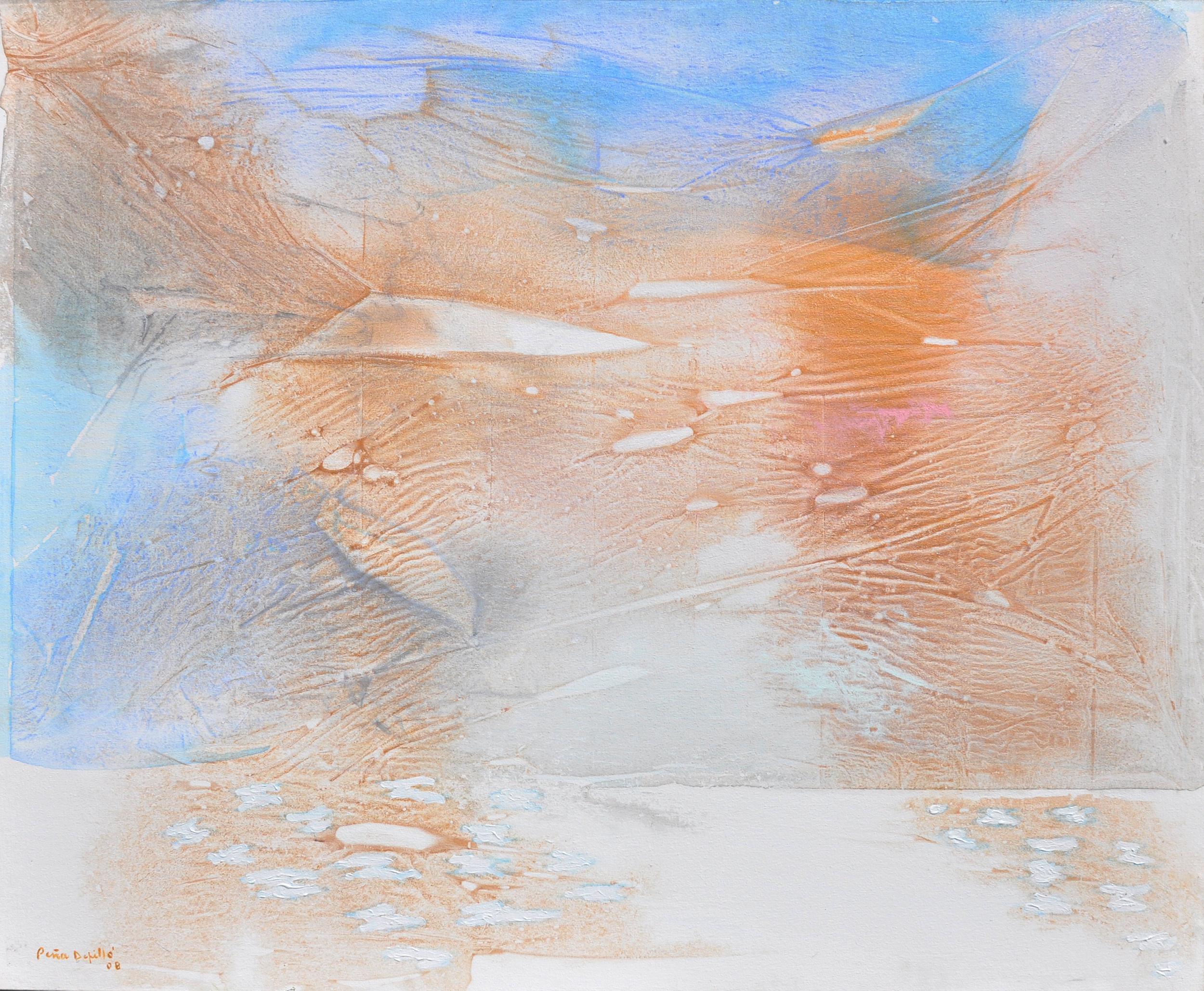 """2008.Aire y Luz 1.Acrílico Y Pastel SobreTela.40x50"""""""