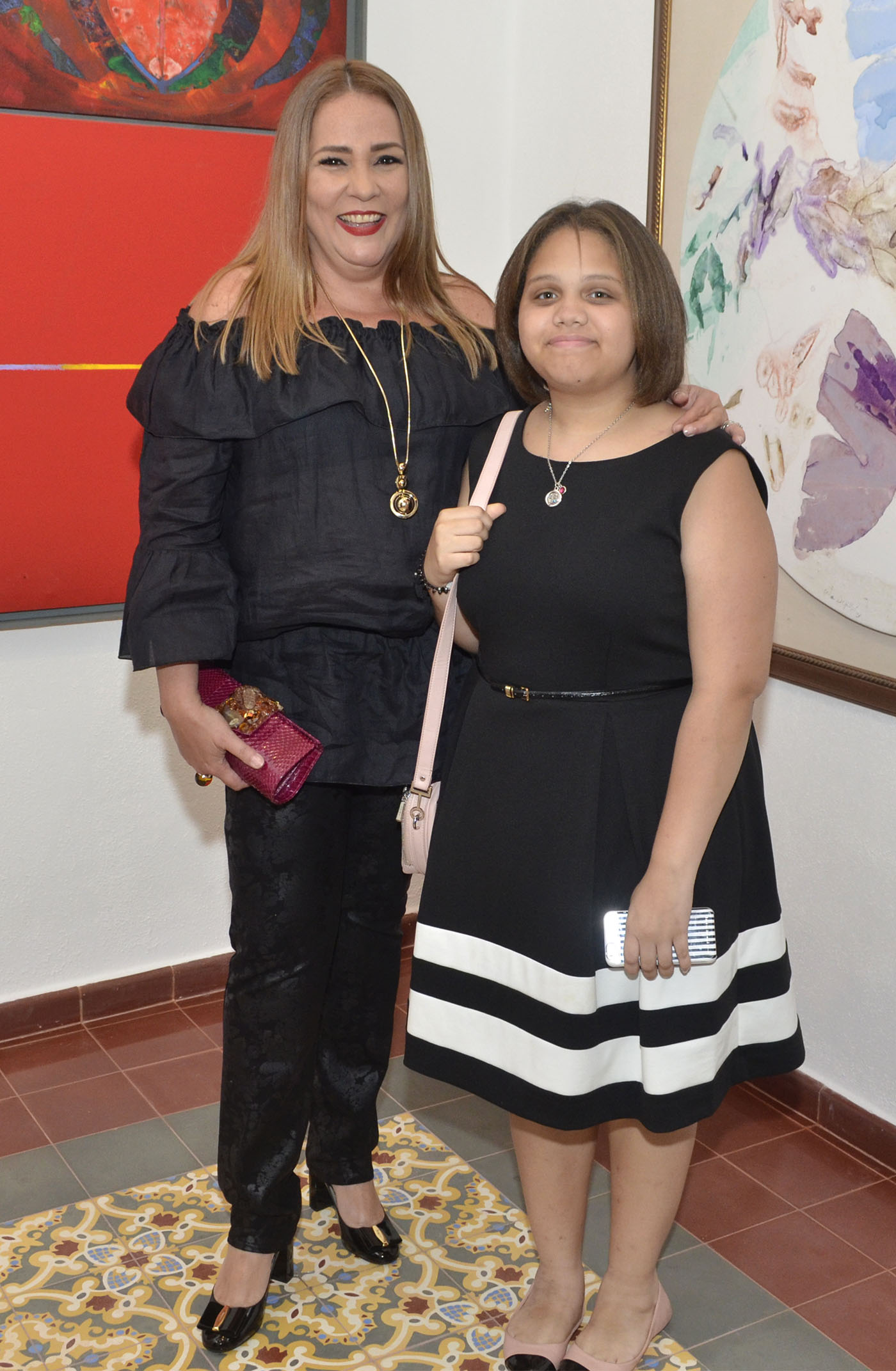 Jatnna Tavárez y María Manuela Hazoury