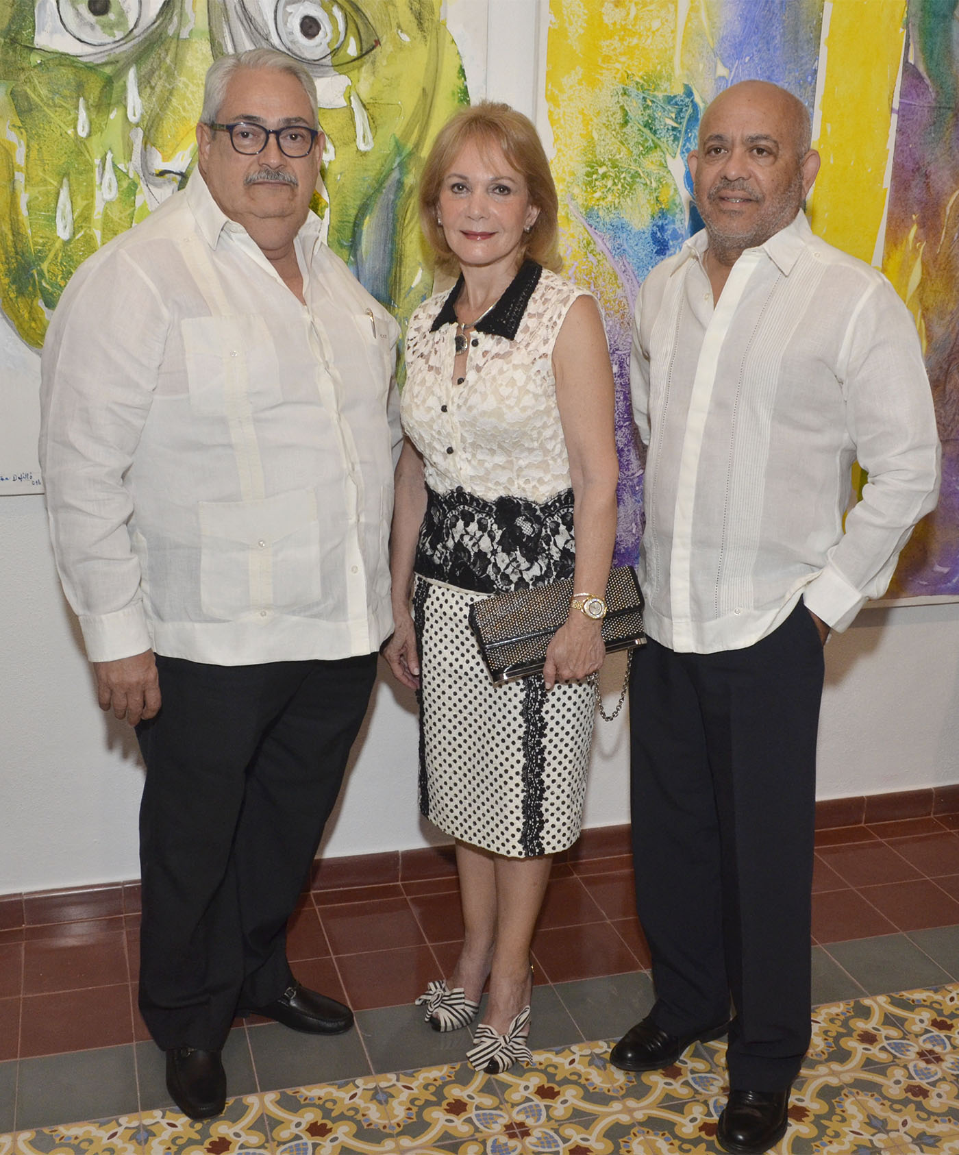 Carlos Torres, Clara Cabrera y Hugo Polanco