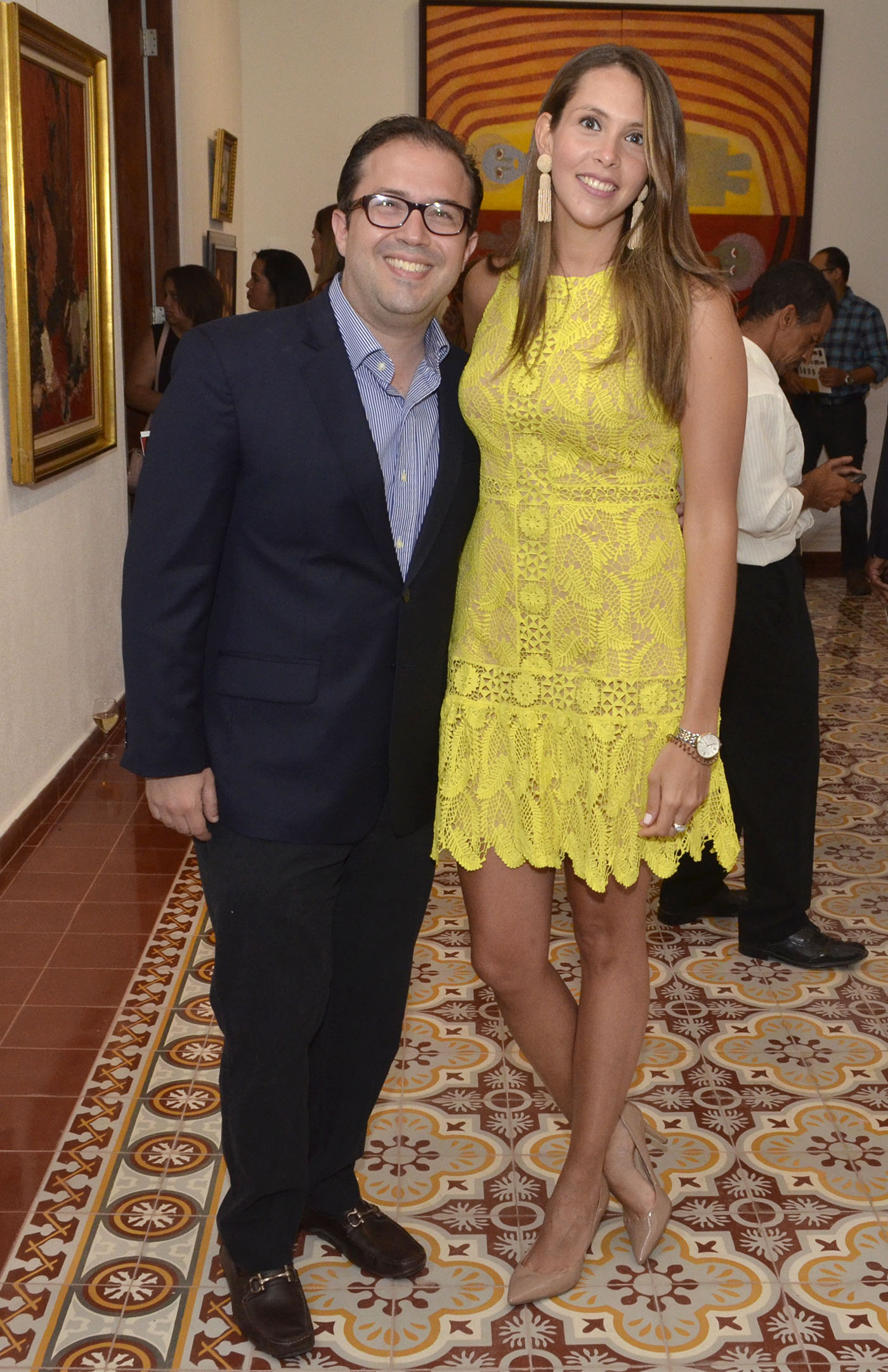 Carlos Hazoury y Stephanie Rodríguez