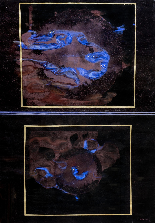 De la serie mundos paralelos (1985) I Acrílico sobre papel