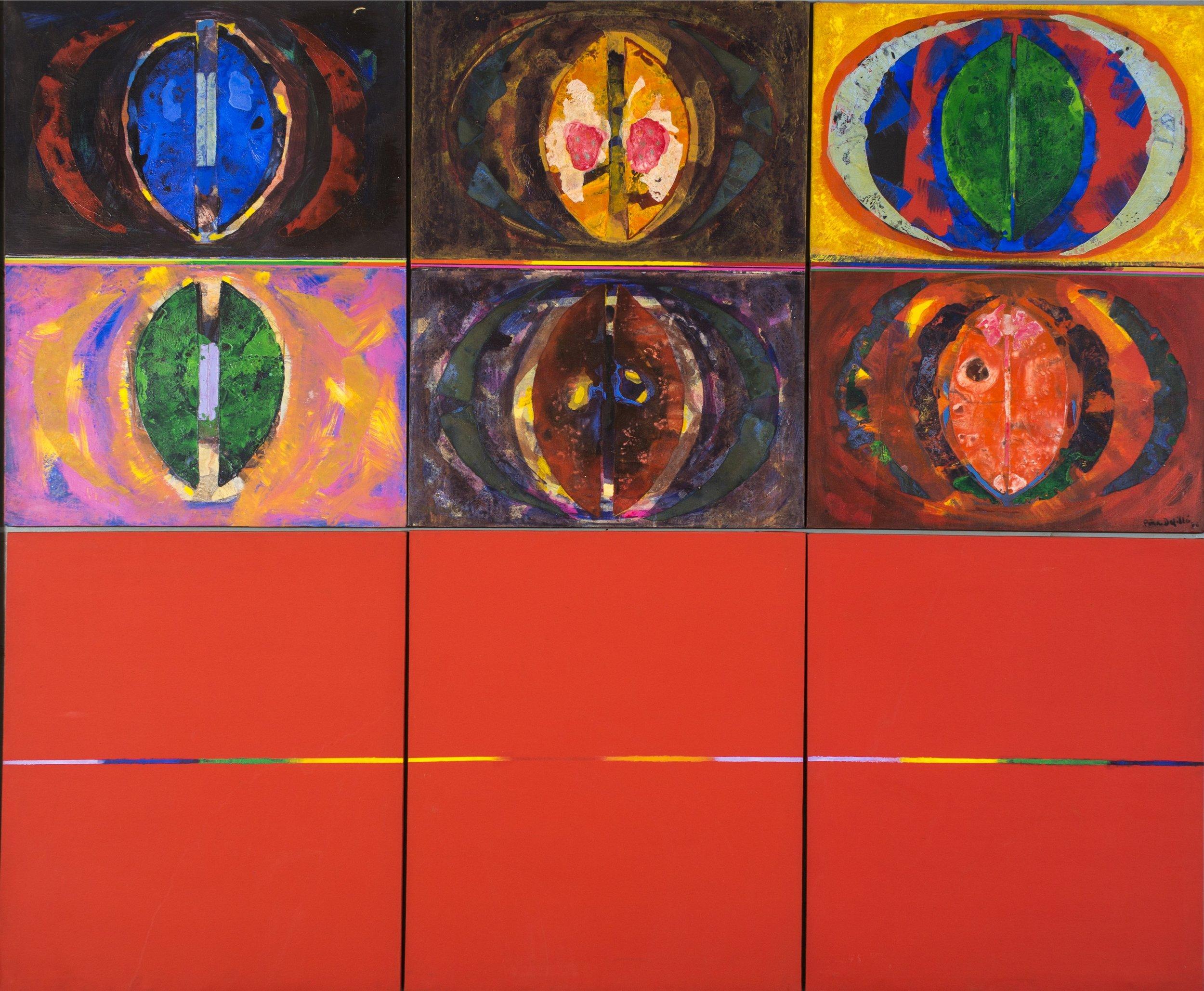 Brotes caribeños (1988) I Mixto sobre tela