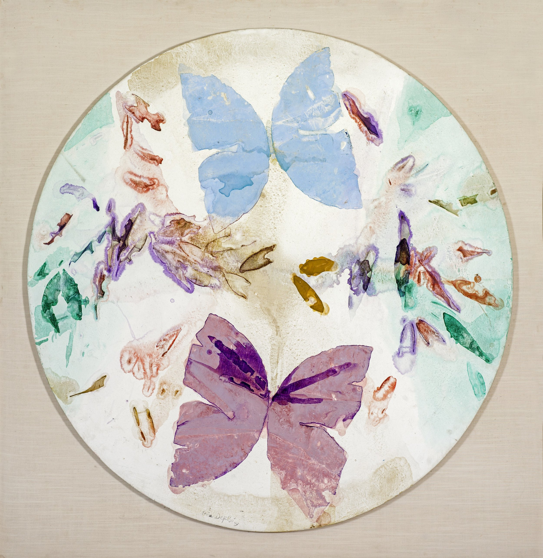 Tondo de mariposas (1993) I Acrílico sobre tela