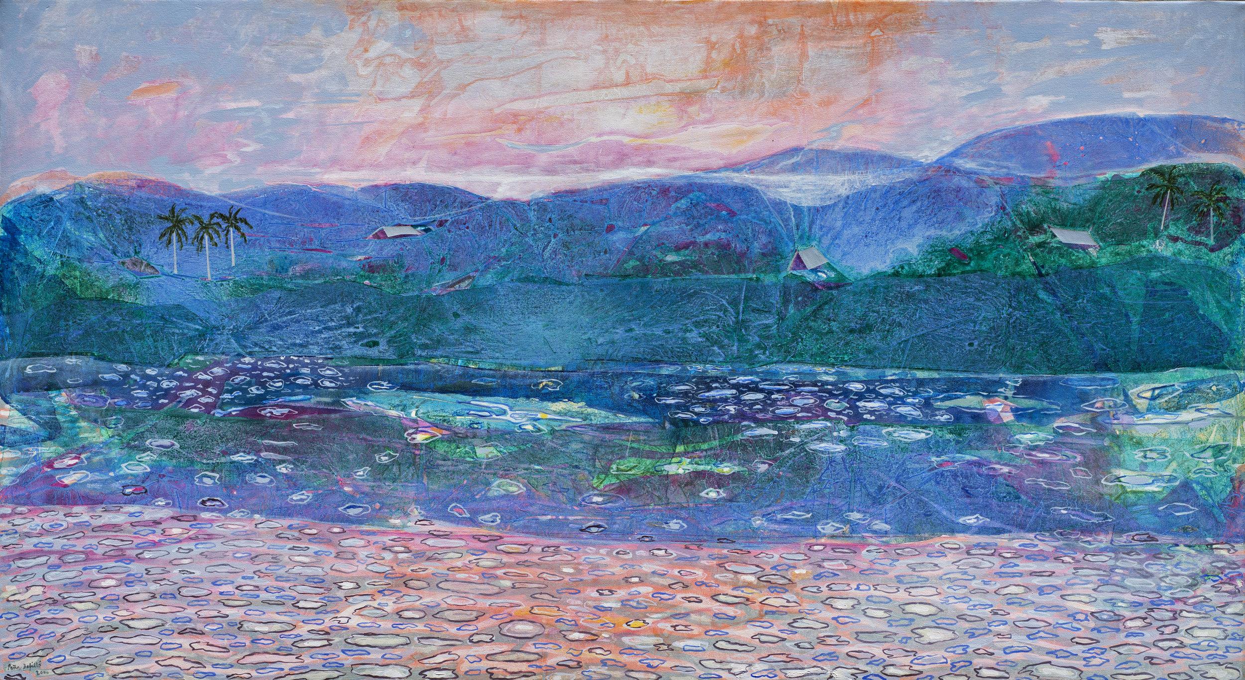 Montañas azules (2000) I Óleo y Acrílico sobre tela