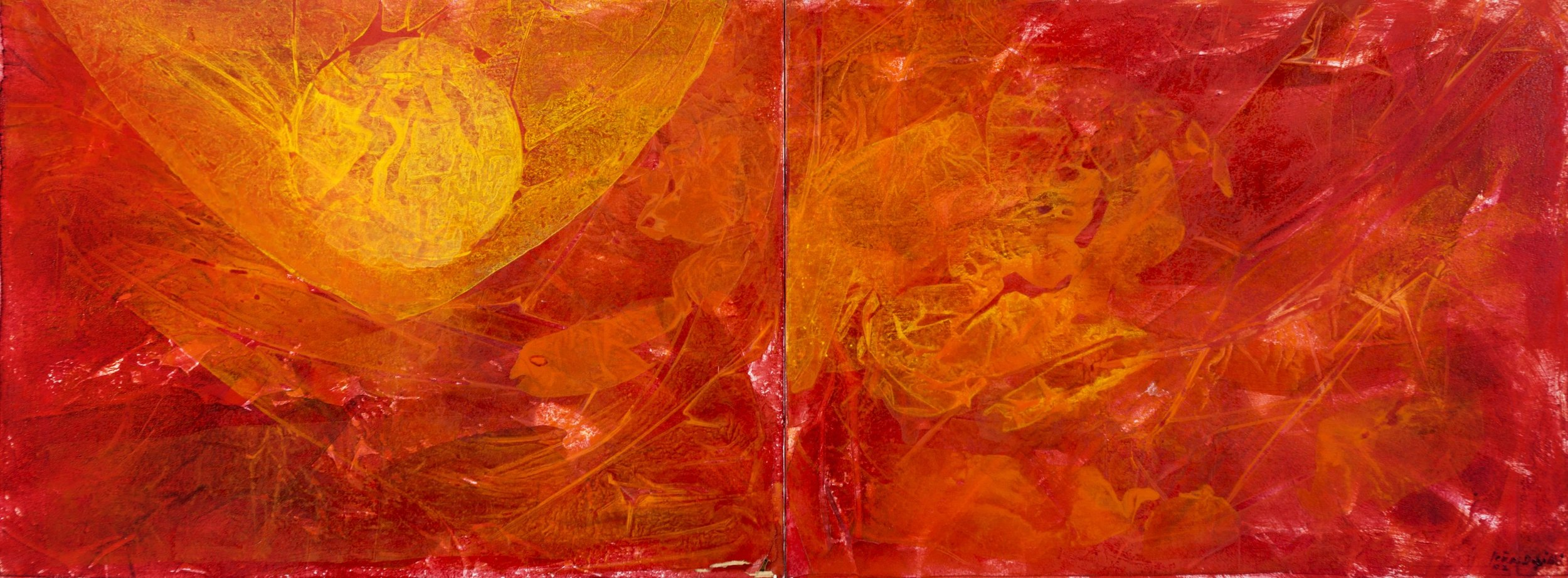 """2002_ Figuras en el sol_ AcrílicoSobreTela_30""""x80"""".jpg"""