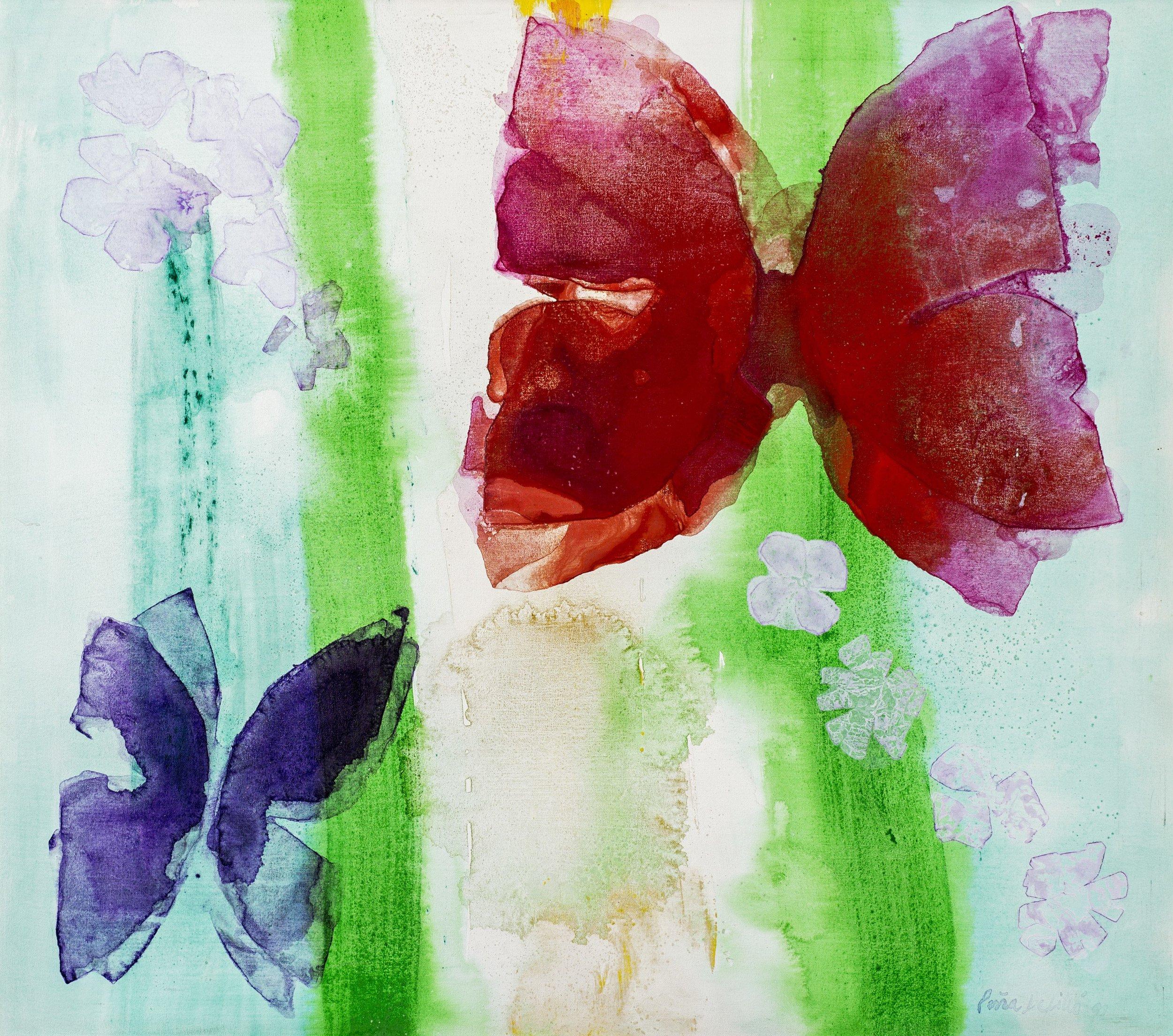 """1997_Serie-Almas mariposas_Acrílico sobre tela _30 x 34"""".jpg"""