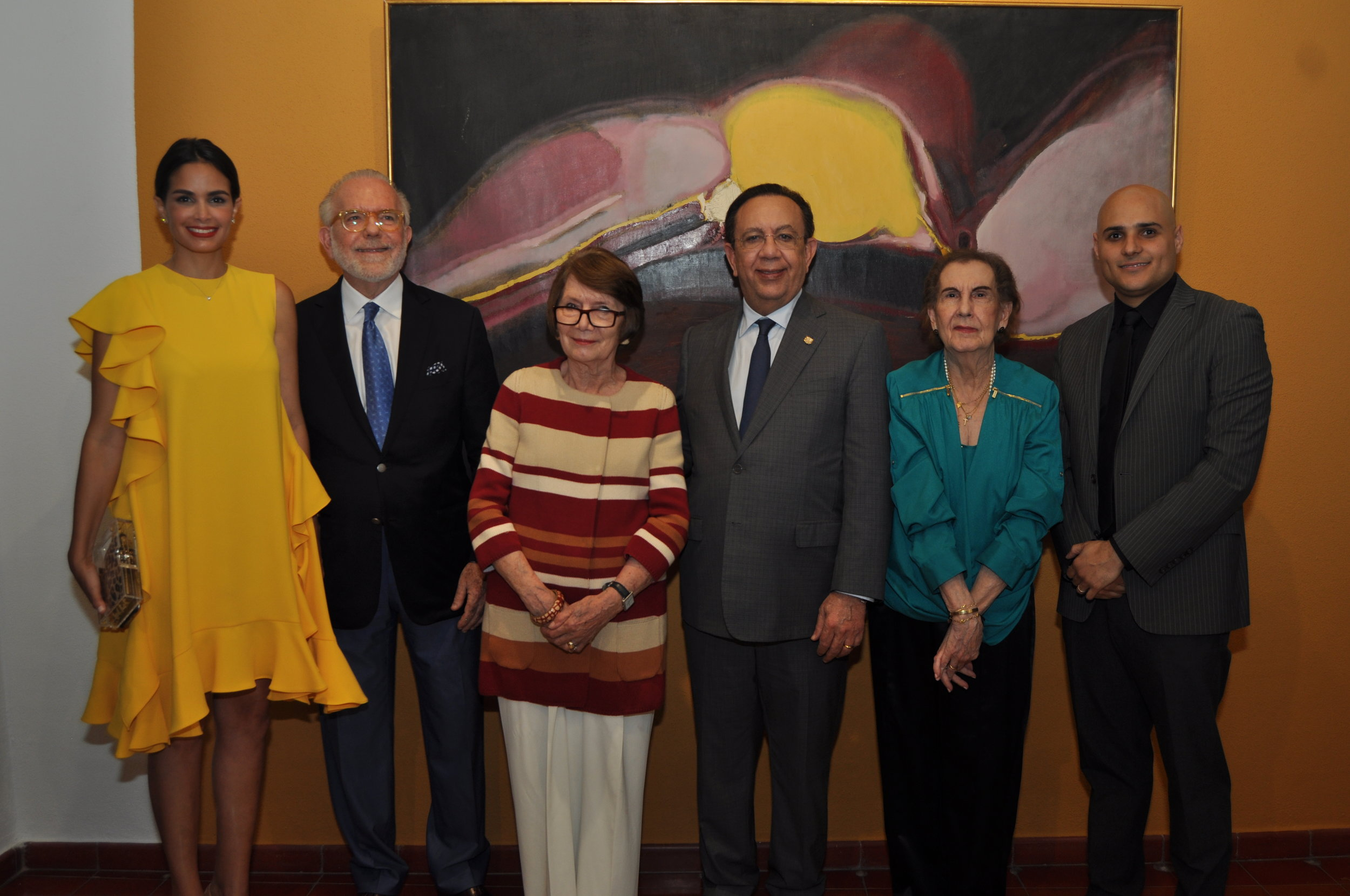Judith Cury, George Manuel Hazoury Peña, Marianne De Tolentino, Héctor Valdez Albizu, Elsa Peña de Hazoury y Alex Martínez Suarez.JPG