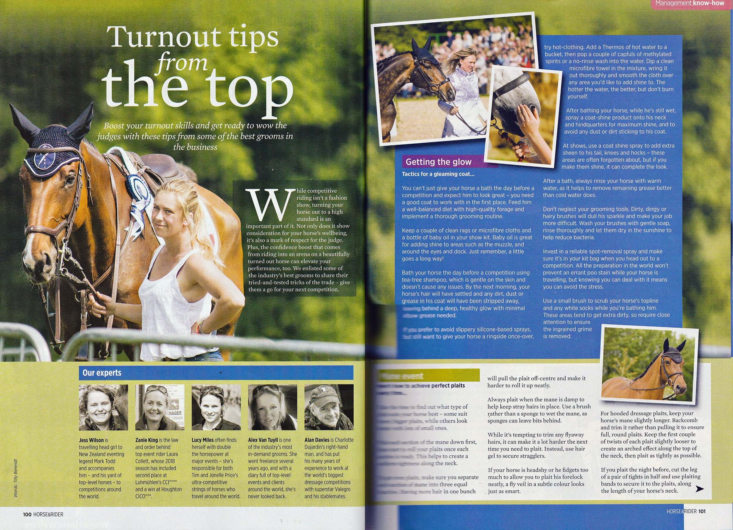 Turnout Tips from the Top