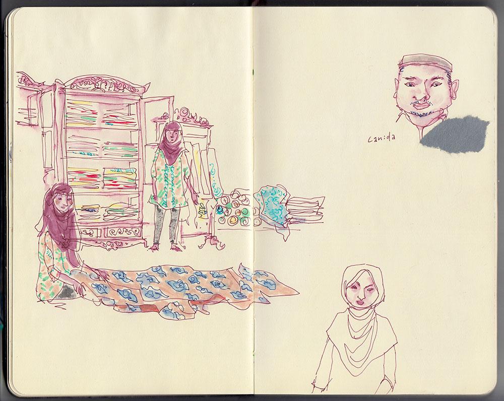 Batik fabric store