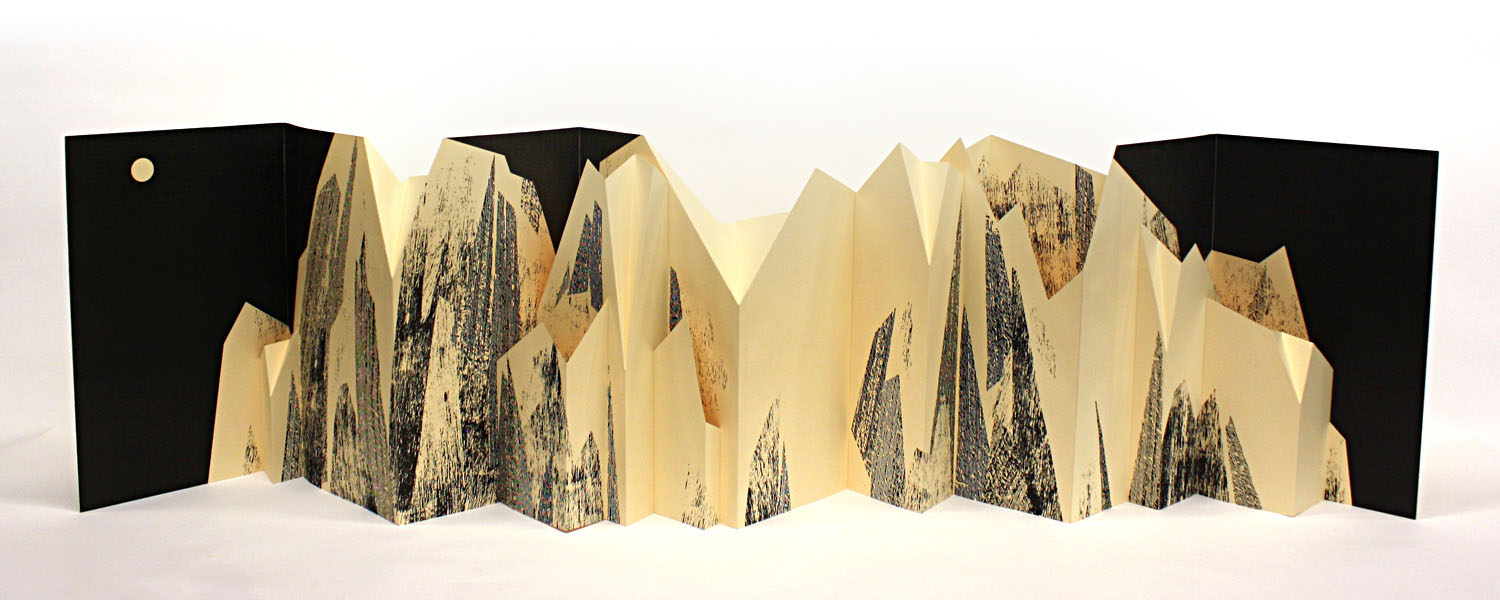 Folding Mountain,  laser print on index paper, unlimited edition