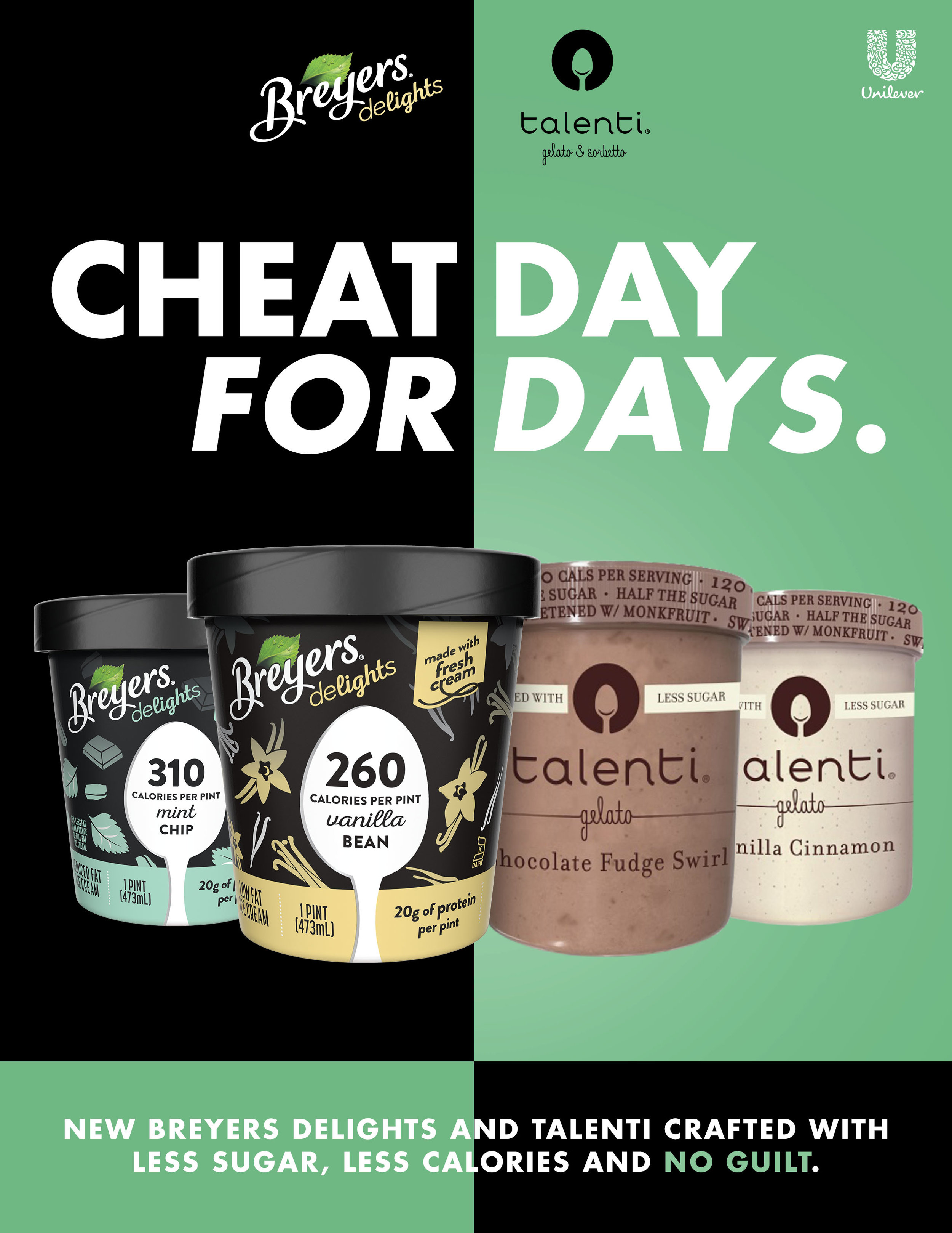 Breyers Delights and Talenti
