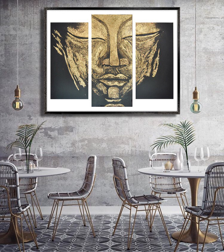 """NAMO TASSA"" GOLD BUDDHA PRINTS - FROM $150.00 USD"