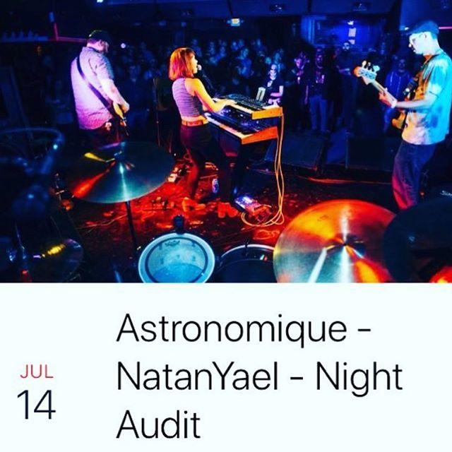 Show on Saturday at @331_club w/ Night Audit and @natanyaelmusic Music at 10. FREE