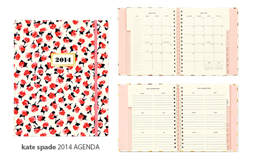 Kate Spade Rose Agenda 2014