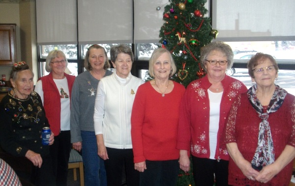 Auxiliary volunteers donated their time and talent to make our holiday party extra special.