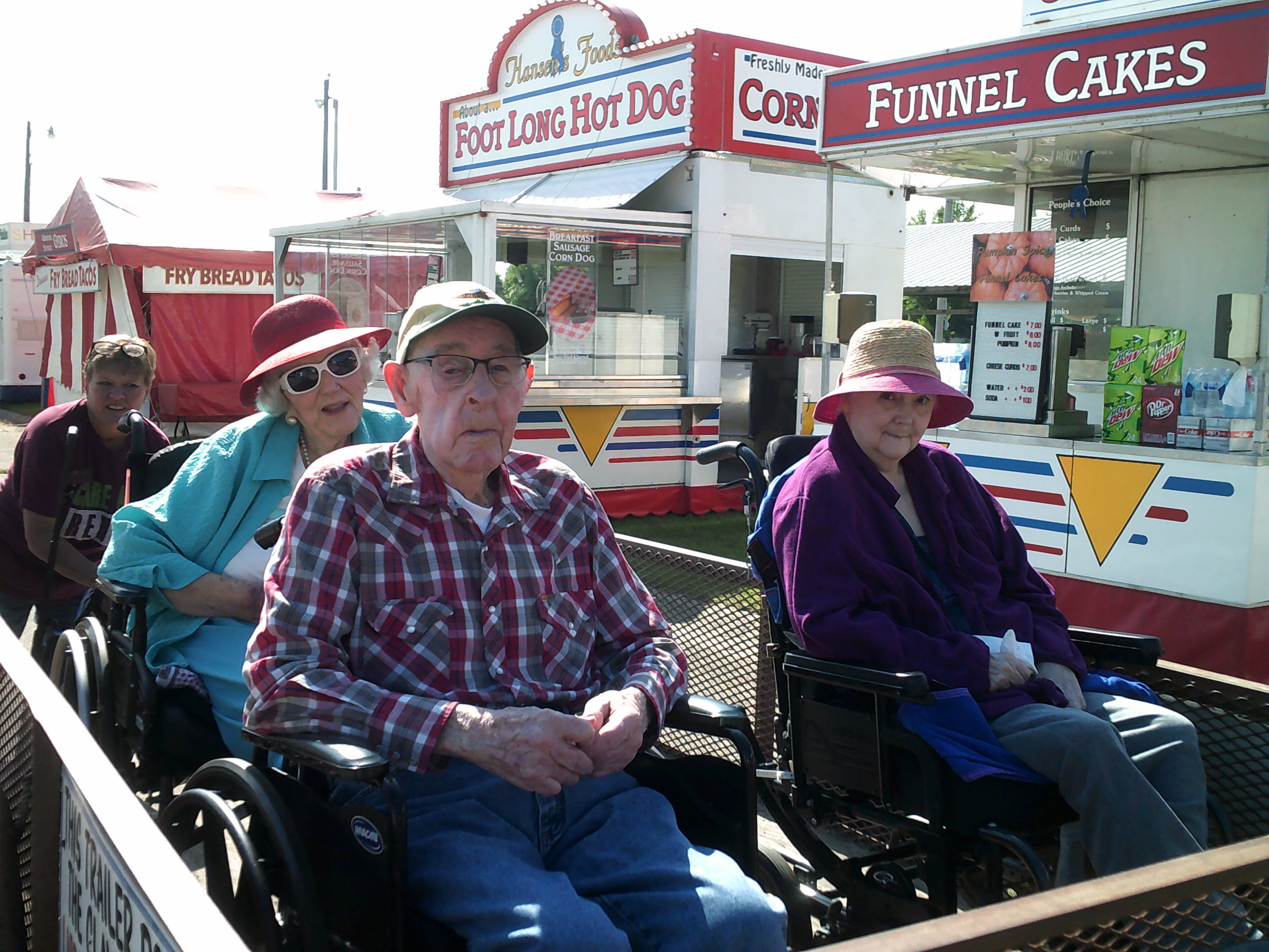 Valley Care and Rehab residents were given the VIP treatment with a private tour of the fairgrounds.