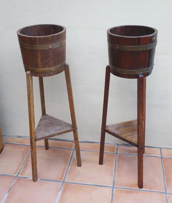 Vintage Wooden Barrel Stands