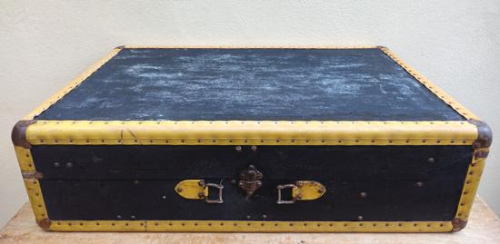 Yellow Trim Suitcase (X1) 21cm x 75cm £12.50