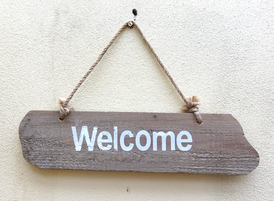 Welcome (X1) 72cm x 46cm £2