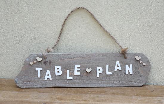 Table Plan (X1) 72cm x 46cm £2