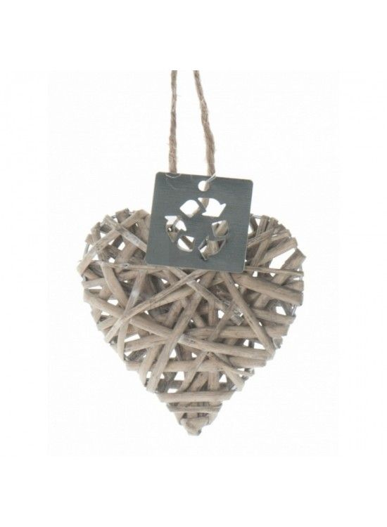 Mini Wicker Hearts (X30) 5cm. 4 for  £1