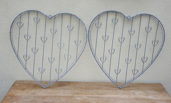 Metal Heart Table Plans (X8) £3