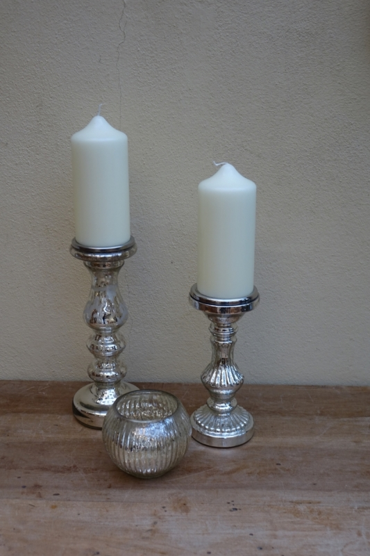 Silver Mercury Candlesticks Various £4