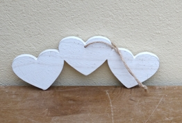 Wooden Heart Sign (X2) £2