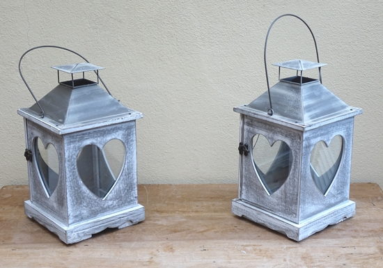 Large Lime Wash Lantern 34cm £5