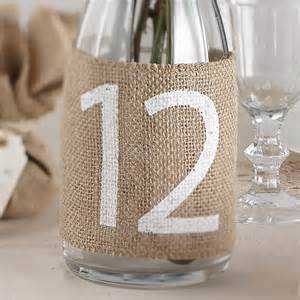 Hessian Table Numbers 1 - 12 £2