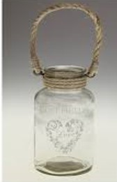 Heart Jar with Rope Handle £2.00