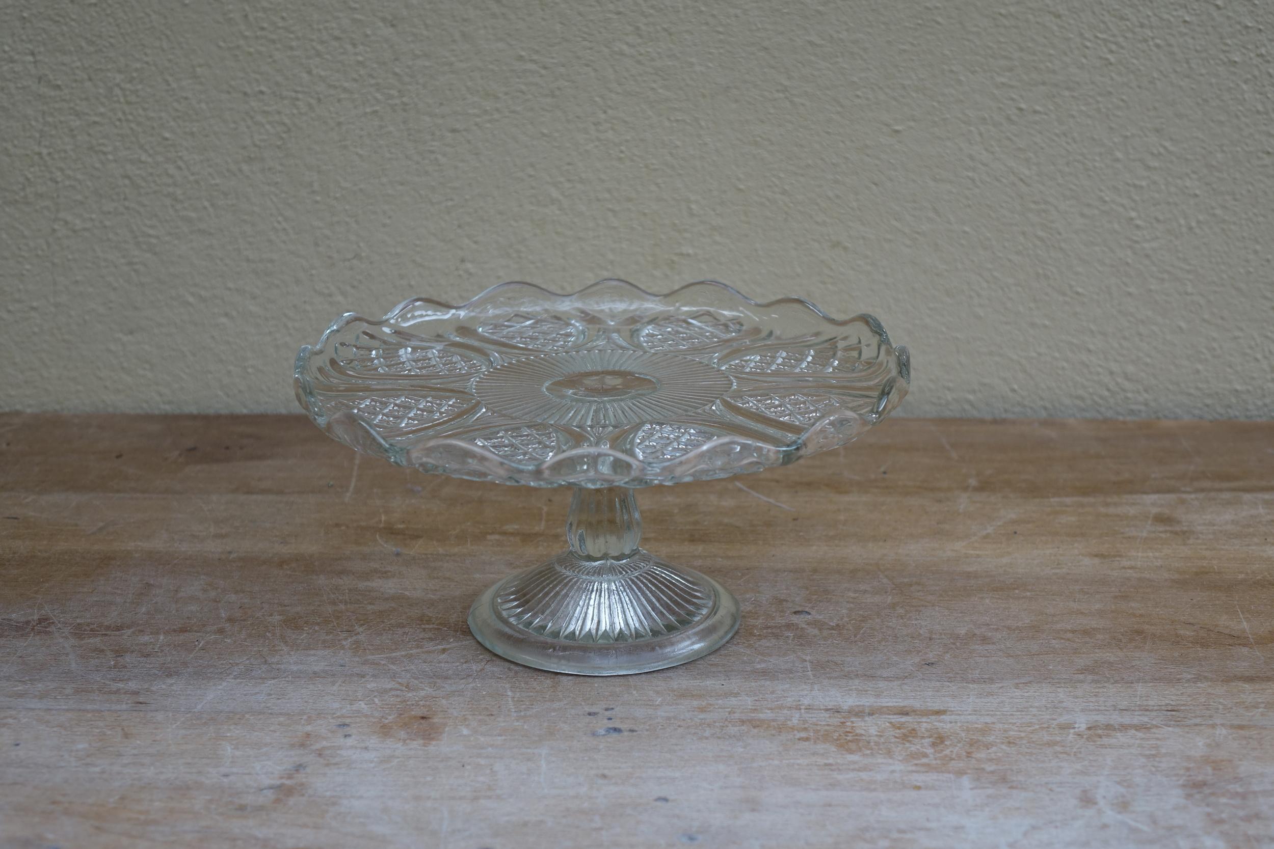 Vintage Glass Cake Stand £3